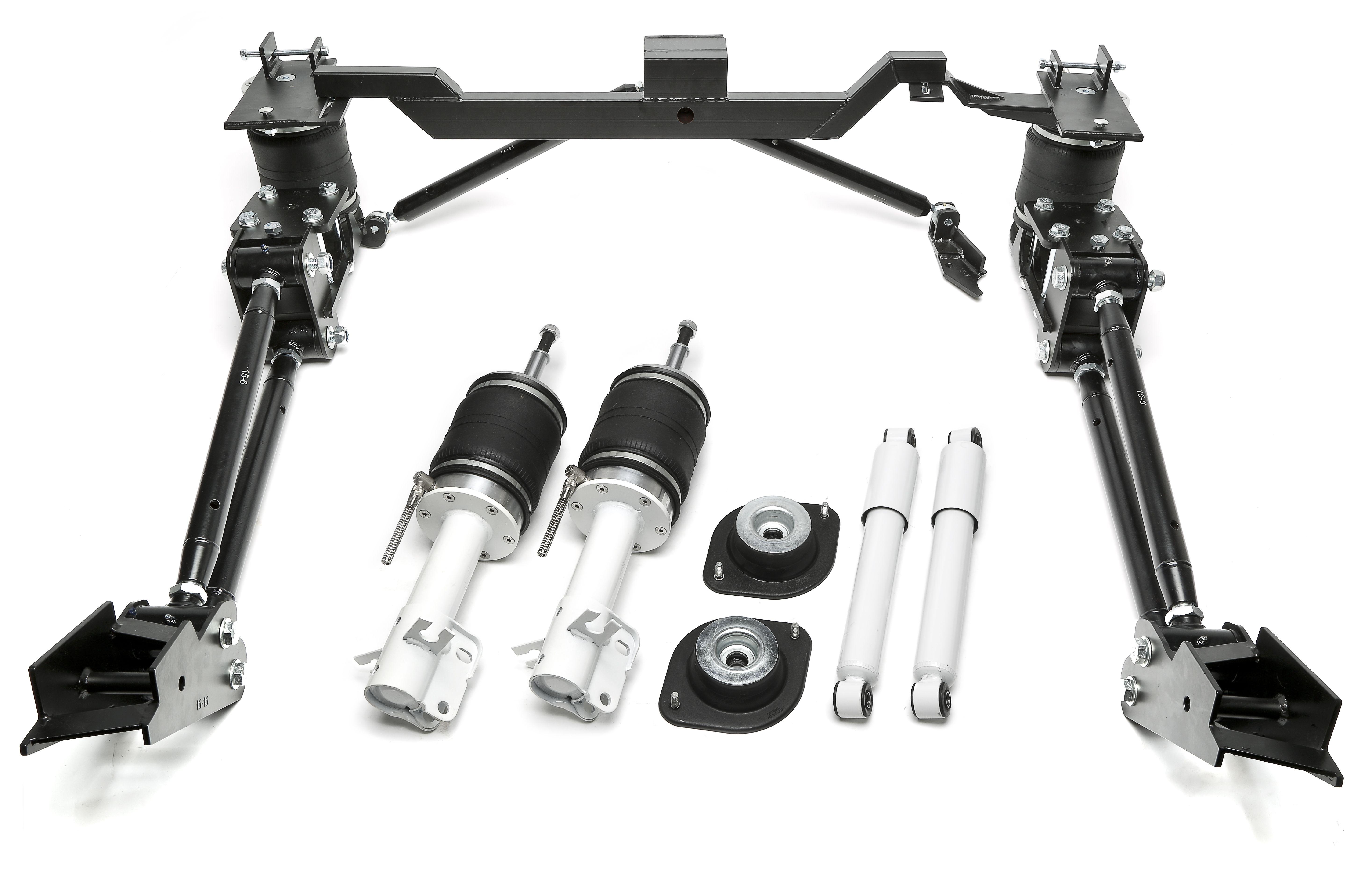 TA Technix Luftdämpfersatz +Blattfedernumrüstkit für  Volkswagen Caddy 1