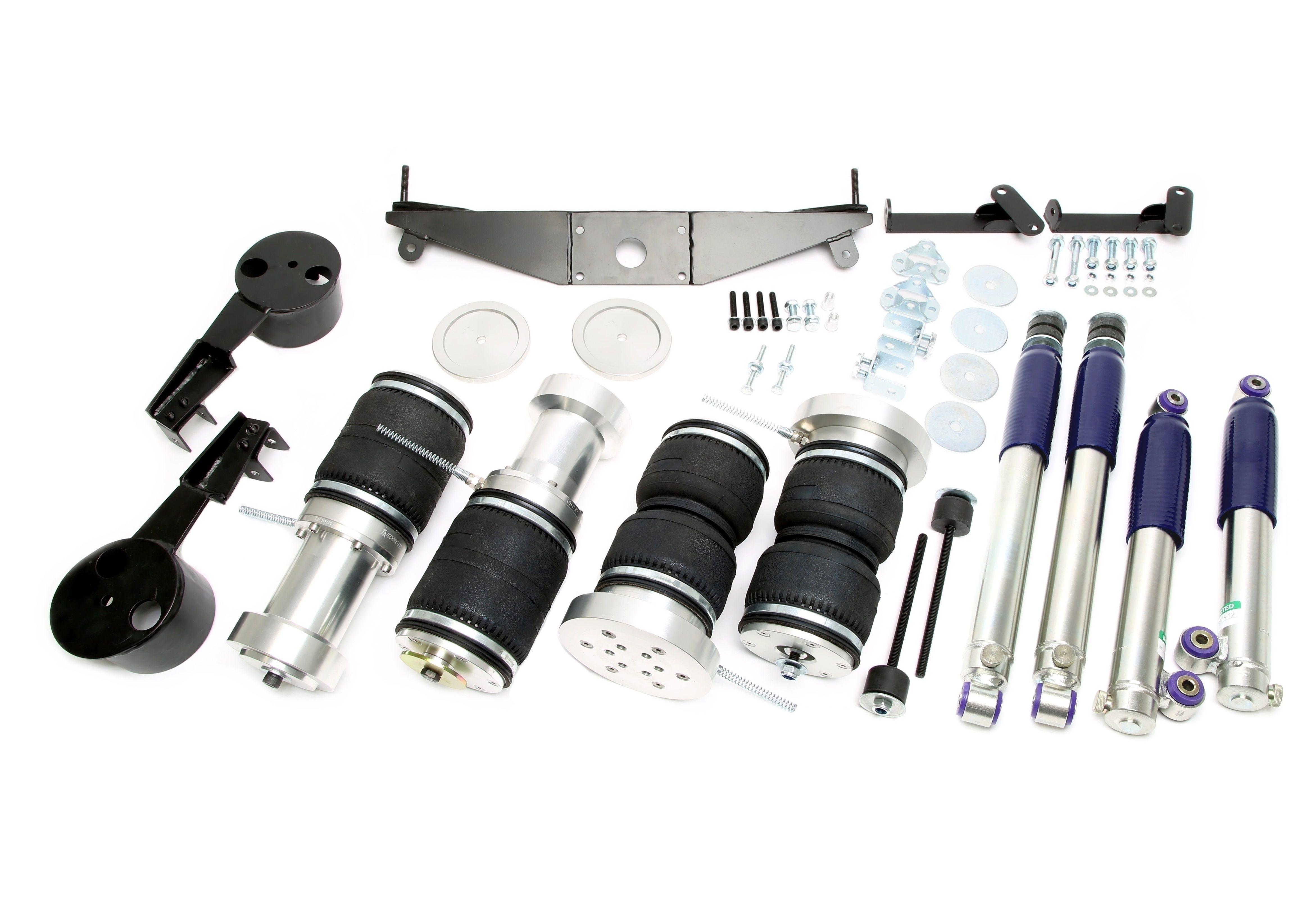 TA Technix härteverstellbarer Luftdämpfersatz für  Mercedes Benz /8 W114 W115