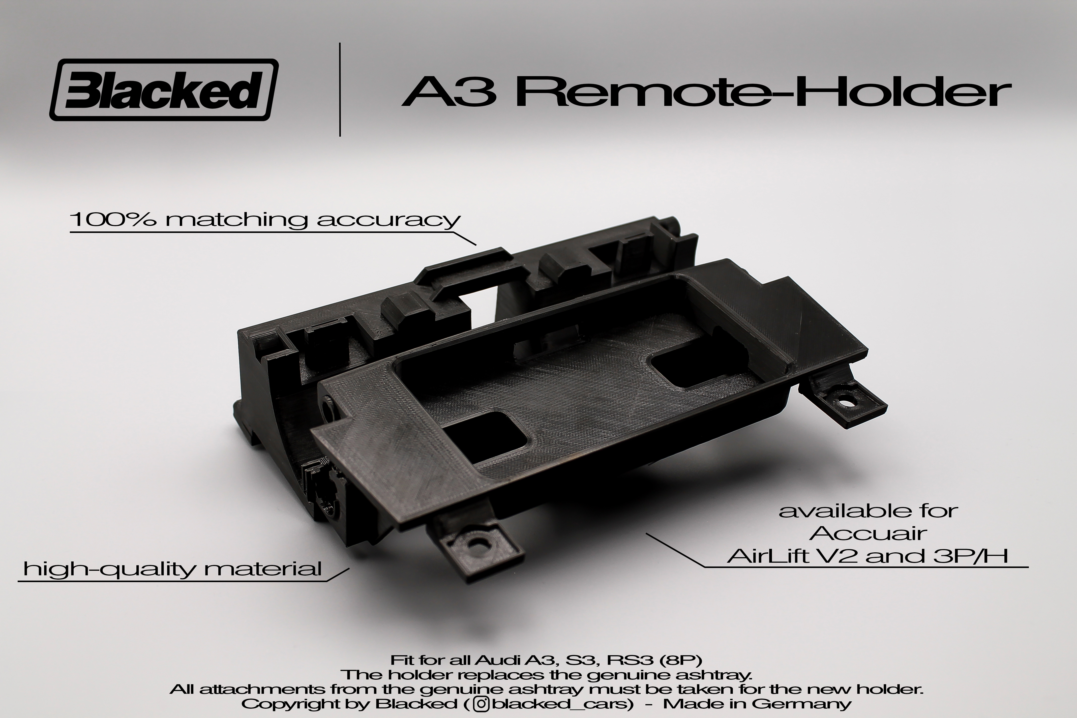 Halterung Audi A3 8P Airlift/Accuair Touchpad